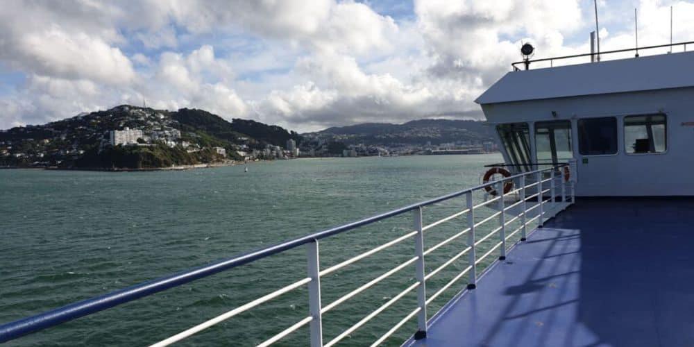 on the inter islands ferry at picton new zealand