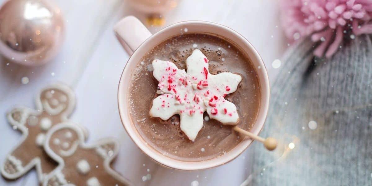 christmas season hot chocolate