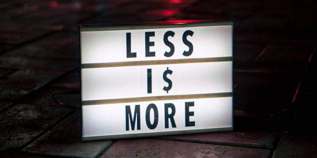 decluttering: less is more